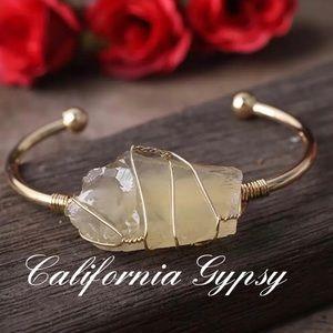 Citrine Crystal Gypsy Bracelet